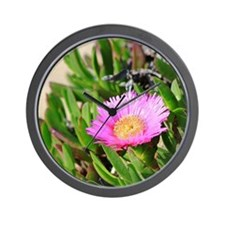 Iceplant Flower Wall Clock