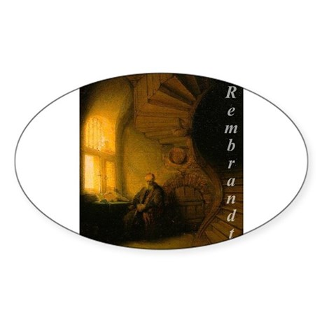 Art History Oval Sticker
