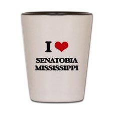 I love Senatobia Mississippi Shot Glass