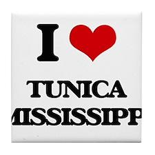 I love Tunica Mississippi Tile Coaster