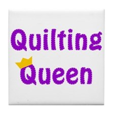 Queen of Quilting Tile Coaster
