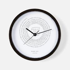 Pi day fashion theme Wall Clock