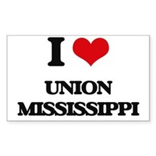 I love Union Mississippi Decal