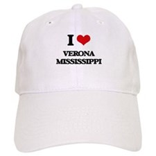 I love Verona Mississippi Baseball Cap