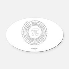 Pi day fashion theme Oval Car Magnet