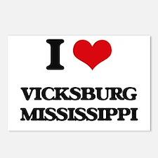 I love Vicksburg Mississi Postcards (Package of 8)