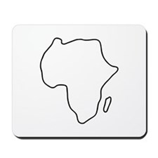 Africa African continent map map borders Mousepad