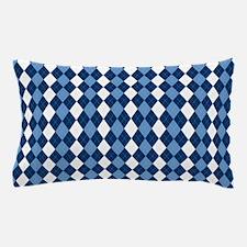 Blue Arglye Pillow Case