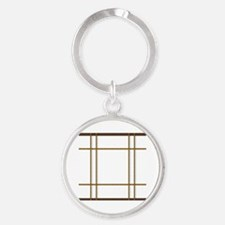 Cool Divided Round Keychain