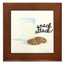 Snack Attack Framed Tile