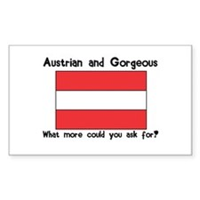 Austrian and Gorgeous Rectangle Decal