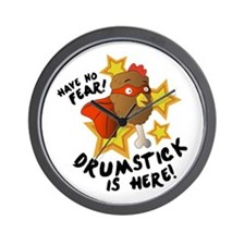 Drumstick Is Here Wall Clock