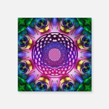 "Purple Celtic Knot Circle Square Sticker 3"" x 3"""