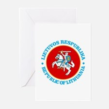 Lithuania COA rd Greeting Cards