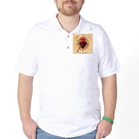 Heart_of_Jesus_sq Golf Shirt