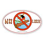 NO LOGS Oval Sticker