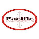 Pacific Glassworks Oval Sticker