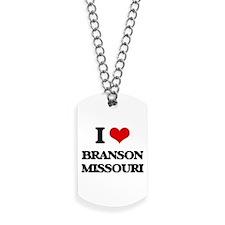 I love Branson Missouri Dog Tags