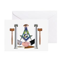Masonic Brothers Greeting Cards (Pk of 20)