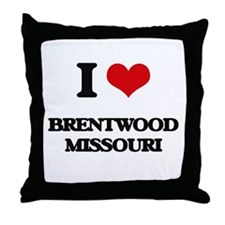 I love Brentwood Missouri Throw Pillow