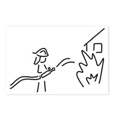 firefighter fire service Postcards (Package of 8)