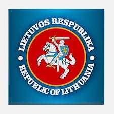 Lithuania COA rd Tile Coaster