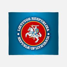 Lithuania Coa Rd Throw Blanket
