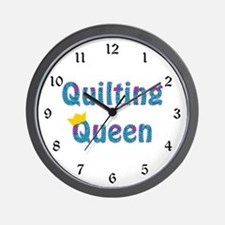 Colorful Quilting Queen Wall Clock