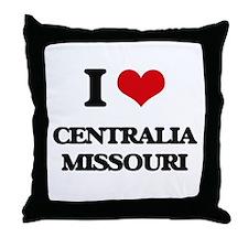 I love Centralia Missouri Throw Pillow