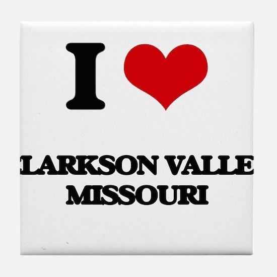 I love Clarkson Valley Missouri Tile Coaster