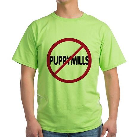 No Puppymills Green T-Shirt