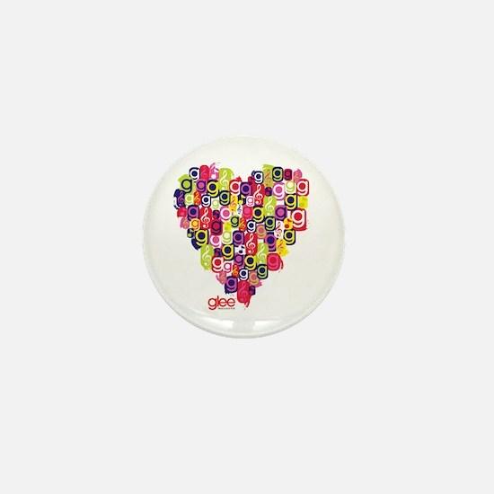 Glee Heart Mini Button