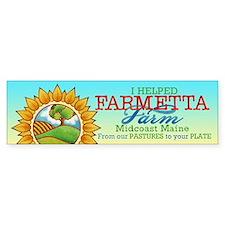 """""""I Helped"""" Farmetta Farm 10 Pk Bumper St"""