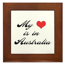 My Heart is in Australia Framed Tile