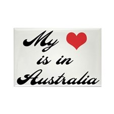 My Heart is in Australia Rectangle Magnet