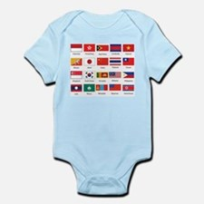 Asian Flags Body Suit