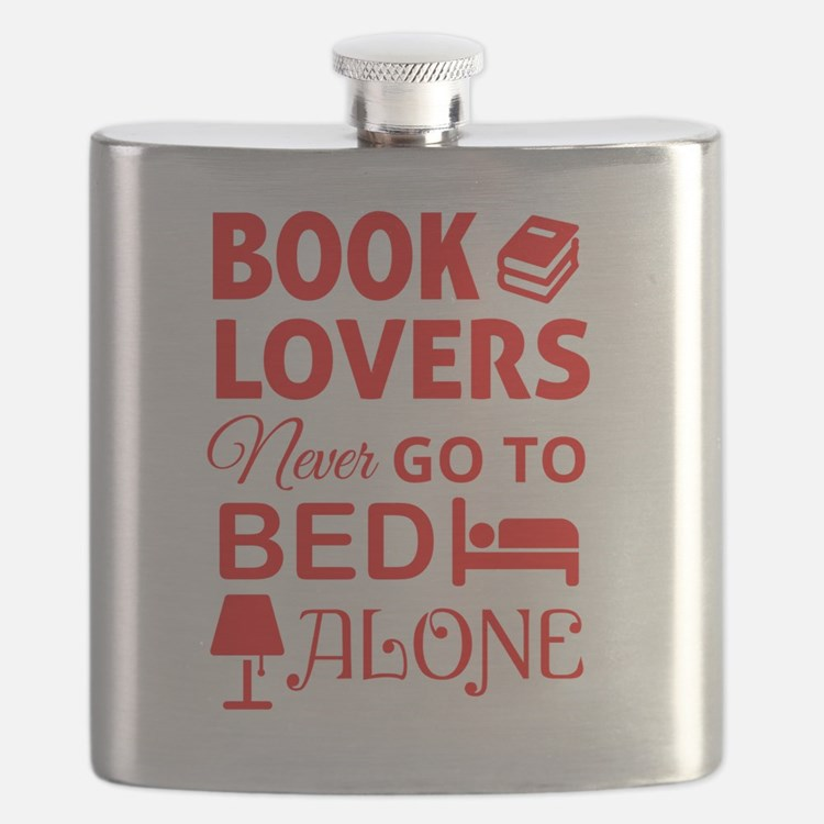 Book Lovers Never Alone Flask