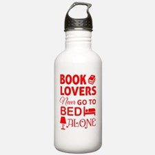 Book Lovers Never Alon Water Bottle