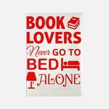 Book Lovers Never Alone Rectangle Magnet