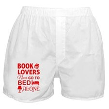 Book Lovers Never Alone Boxer Shorts