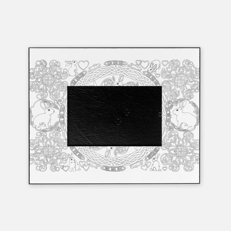 Black And White Celtic Knot Rabbit Picture Frame