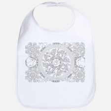 Black and White Celtic Knot Rabbit Mandala Bib