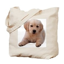 Golden Retriever Puppy Lying Down Tote Bag