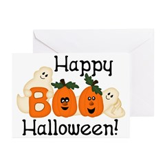 Ghostly Boo! Halloween Cards (Pk of 20)