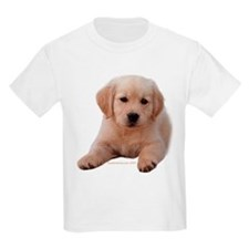 Golden Retriever Puppy Lying Down Kids T-Shirt