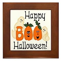 Ghostly Boo! Framed Tile