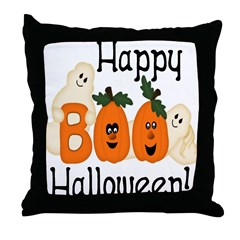 Ghostly Boo! Throw Pillow
