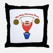 Big Strong Man Throw Pillow