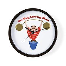 Big Strong Man Wall Clock