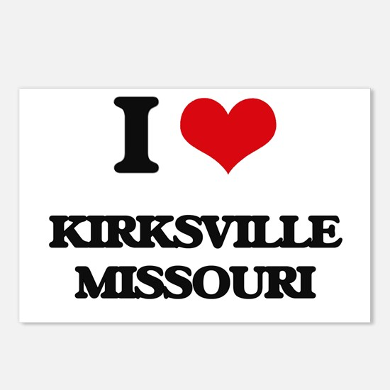 I love Kirksville Missour Postcards (Package of 8)